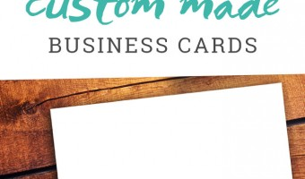 How to Make Your Own Business Cards {A Tutorial}