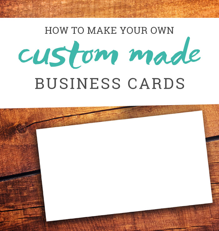 How to Make Your Own Business Cards - A Tutorial